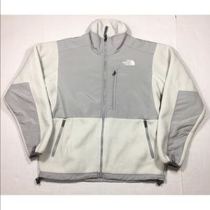 The North Face Denali White & Grey Fleece Jacket